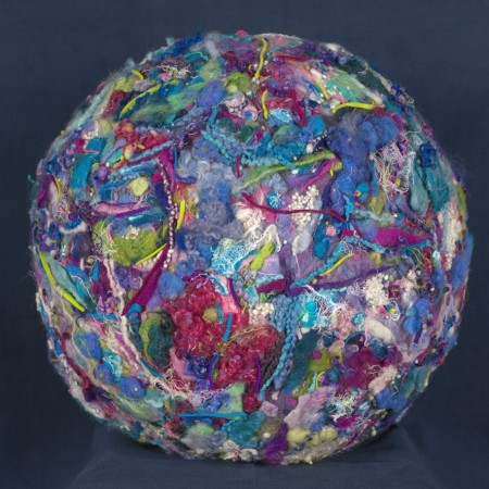 Final felted ball