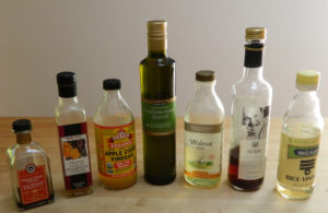 Variety of oils and vinegars