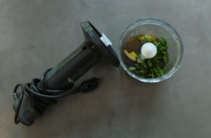 Hand blender with mini food processor