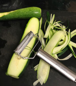 Zucchini and julienne/vegetable peeler