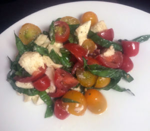 Caprese salad with fresh buffalo mozzarella